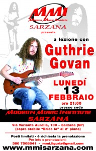 Locandina - A lezione con Guthrie Govan